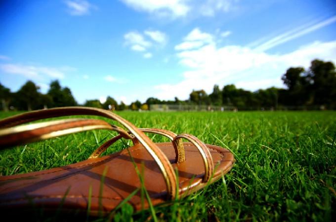 Hippe gladiator sandalen